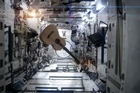 Commander Chris Hadfield has covered David Bowie's Space Oddity while on board the International Space Station.