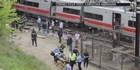 Commuter trains collide in US