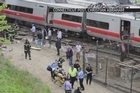 Commuter trains collide in New York