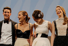 The Bling Ring stars Israel Broussard, left, Emma Watson, Katie Chang and Taissa Fariga at Cannes Film Festival. Photo/AP