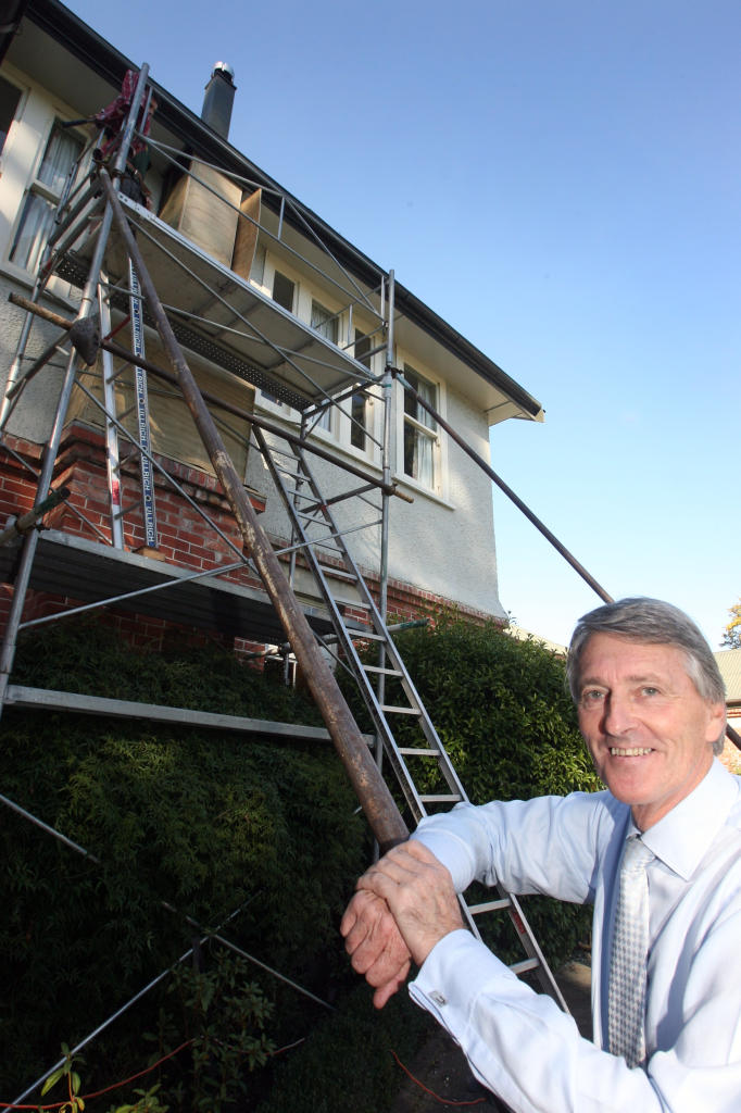 wta140513lfstmatts04.jpg Earthquake-proofing work and a restoration of the boarding house, Main House, at St Matthew's Collegiate School for Girls in Masterton is a boon for principal Erik Pedersen. The chimneys are demolished to single storey and are bei