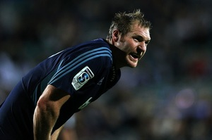 Blues skipper Ali Williams was penalised three times against the Crusaders. Photo / Getty Images