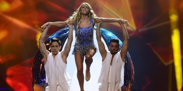 Belarus' Alyona Lanskaya performs during the finals of the 2013 Eurovision Song Contest.Photo / AFP