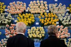 People look at a daffodil display during the Chelsea Flower Show. Photo / AFP