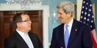 Secretary of State John Kerry meets with New Zealand Foreign Minister Murray McCully at the State Department in Washington. Photo / AP