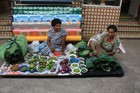 Green chillies and banana leaves are sought after in the markets. Photo / Paul Rush