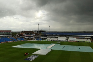 The pitch covers remained fastened. Photo / Andrew Alderson