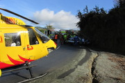 Two hospitalised after rally crash