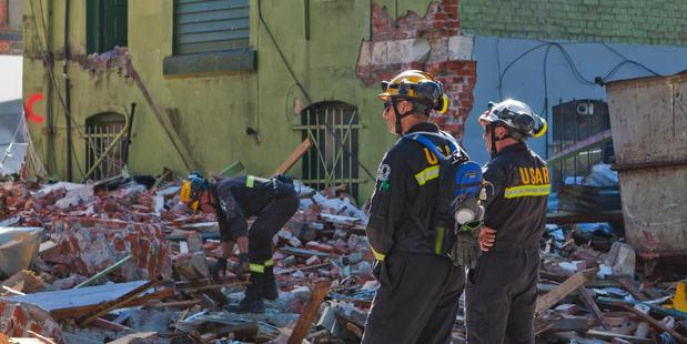 USAR teams working after the Christchurch quake. File Photo / Rocky Batchelor