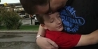 Tornado horror: Reunited dad and son