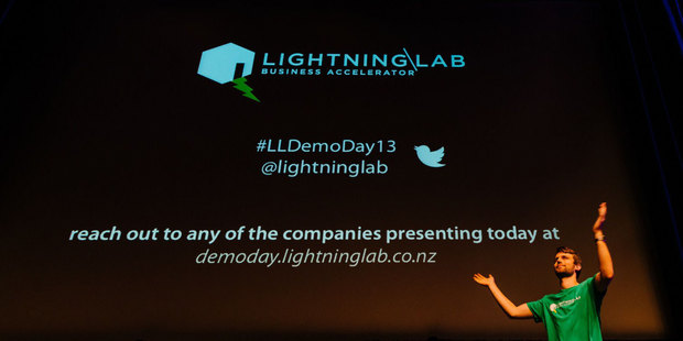 Sam Bonney, programme manager of the Lightning Lab at last week's angel investment meeting in Wellington. Photo / supplied