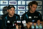  Black Caps front the media