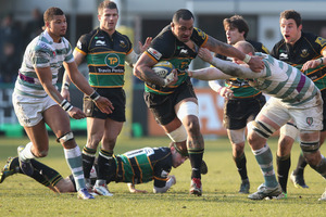 Samu Manoa has starred for Northampton this season. Photo / Getty Images