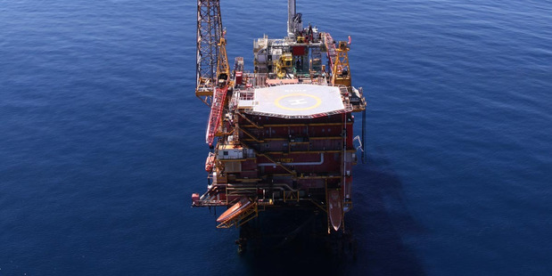 The Maui A gas platform. Photo / Supplied