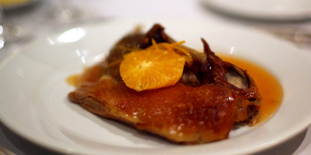 Duck a l'Orange at Antoine's restaurant in Parnell. Photo / Getty Images