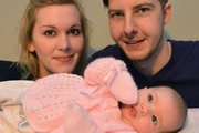 Erica Gunther and Thomas Jones, who says he was told by doctors he would be a father 10 minutes before Laurelin was delivered. Photo / Otago Daily Times