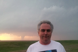 Neill Ellis says seeing the twister's destruction was terrible, and the noise was 'very, very scary'. Photo / Supplied
