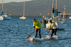 Paddlers of all skill and fitness levels can enjoy racing in the winter series. Photo / Supplied