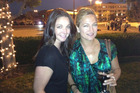 Familiar faces at the Kiwi reception in Los Angeles included Claire Chitham and Zoe Bell. Photo / Audrey Young