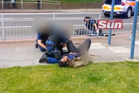 Video images show the moment two men are shot by police after killing a soldier in Woolwich, London. Photo / The Sun