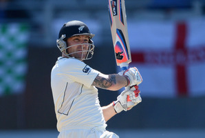 """Captain Brendon McCullum believes their first-test """"hour of madness"""" was a fleeting blip. Photo / Getty Images"""