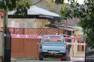 Scene of a fatal shed fire at Kaniere, near Hokitika. Photo / Hokitika Guardian