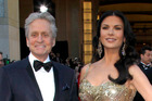 Michael Douglas, left, and Catherine Zeta-Jones. Photo / AP