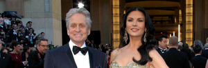 Michael Douglas, left, and Catherine Zeta-Jones. Photo / AP
