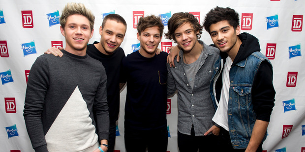 One Direction took home four prizes from the Social Star Awards. Photo / AP