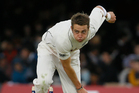 Tim Southee can foot it with New Zealand's leading seamers of recent years. Photo / AP