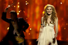 Emmelie de Forest of Denmark won the Eurovision Song Contest with her song Only Teardrops.Photo / AP