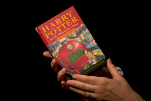 A first edition copy of the first Harry Potter book has sold at auction.Photo / AP