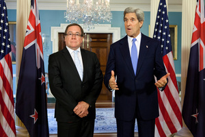 Murray McCully, left, is also talking to like-minded counterparts in Asia and Europe to drum up similar offers. Photo / AP