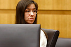 Jodi Arias looks at her family during the penalty phase of her murder trial at Maricopa County Superior Court in Phoenix, Arizona. Photo / AP