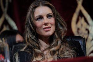 British actress Elizabeth Hurley is in Chechnya to begin filming a thriller with Gerard Depardieu. Photo / AP