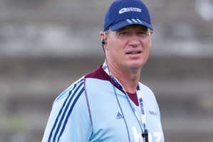 Blues head coach Sir John Kirwan. Photo / Richard Robinson