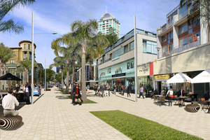 Artist's impression of how Hurstmere Road in Takapuna could look if the proposed draft Auckland unitary plan is put in place.