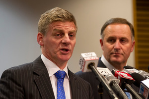 Finance Minister Bill English, with Prime Minister John Key.Photo / Mark Mitchell