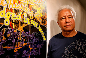 Albert Wendt says age propels him to write and paint more. Photo / Kenny Rodger
