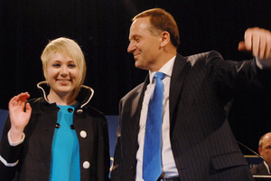 Stephie Key and Aaron Patzer are not an item, says John Key.  Photo / NZPA