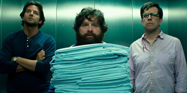 Loading Hangover buddies, from left, Bradley Cooper, Zach Galifianakis and Ed Helms. Photo / Supplied