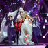 Finland's Krista Siegfrids performs 'Marry Me' during dress rehearsals for the second semifinal at the 2013 Eurovision Song Contest at the Malmo Opera Hall in Malmo. Photo / AP