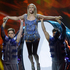 Alyona Lanskaya of Belarus performs her song Solayoh during a rehearsal for the final of the Eurovision Song Contest at the Malmo Arena in Malmo, Sweden. Photo / AP