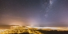 Watch: Wellington Time-lapse: Fog below and the stars above