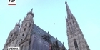 Watch: Raw: Tightrope walk between Cathedral spires