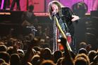 Steven Tyler of Aerosmith performing at Forsyth Barr Stadium. Photo/Otago Daily Times