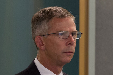 Former chief executive Paul William Cropp in court. Photo / Brett Phibbs