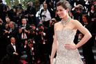 Jessica Biel on the Cannes red carpet. Photo/AP