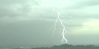 Lightning strikes Auckland