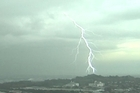 Auckland lightning strikes
